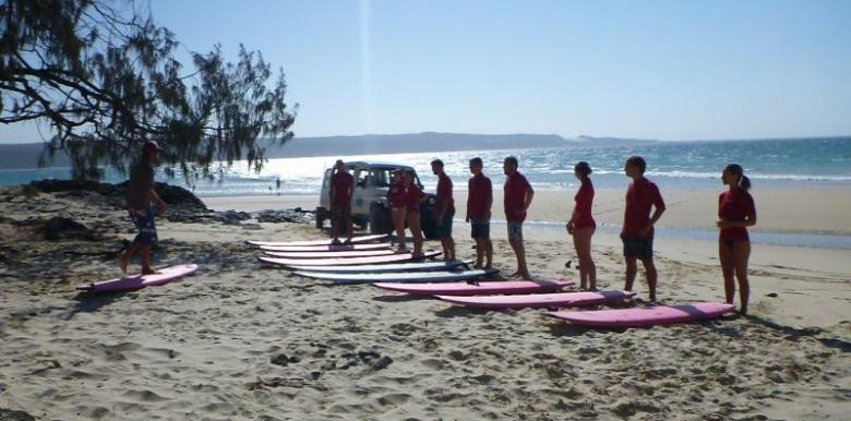 Epic Ocean Adventures: Longest wave Rainbow Beach Surf Lesson 3 hour